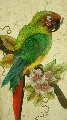 Reverse On Glass Painting - Sidney  by Deb Booker-Foley