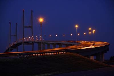 Photograph - Sidney Lanier Bridge At Night by Kathryn Meyer