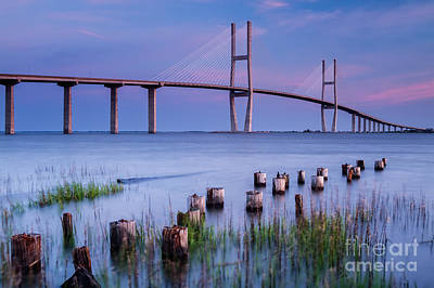 Sidney Lanier Bridge Brunswick Georgia Print by Dawna  Moore Photography