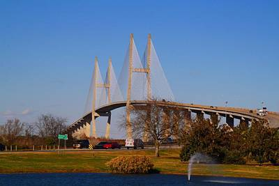 Photograph - Sidney Lanier Bridge by Kathryn Meyer