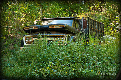 Sid's Old Truck Print by Lena Wilhite