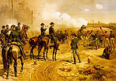 Battle Of Gettysburg Digital Art - Siege Of Arlanta by Thure de Thulstrup