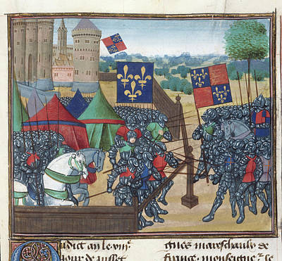 Fleur De Lis Photograph - Siege Of Castillion Sur Dordogne by British Library
