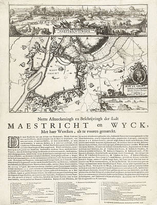 Maastricht Wall Art - Drawing - Siege Of Maastricht, 1676, The Netherlands by Anonymous And Jacob Bloemendal