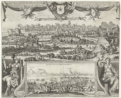 Maastricht Drawing - Siege Of Maastricht By Louis Xiv, 1673, Gaspar Bouttats by Gaspar Bouttats