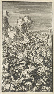 Flooding Drawing - Siege Of Nicosia By The Ottoman Army, 1570 by Jan Luyken