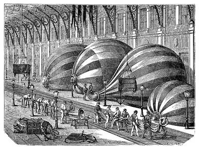 Siege Of Paris Balloon Factory Art Print by Science Photo Library