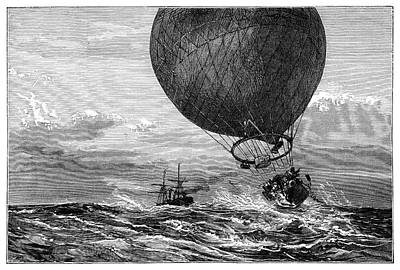 Siege Of Paris Balloon Flight Print by Science Photo Library