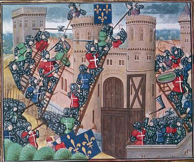Siege Of Pontaudemer Art Print by British Library