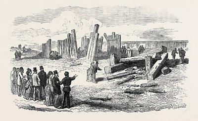 Siege Operations At Chatham Destruction Of The Stockade Art Print