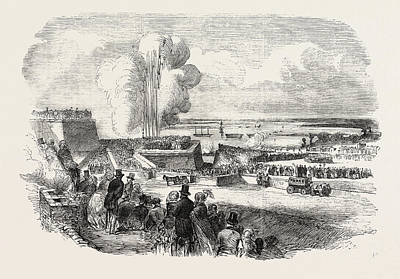 Siege Operations At Chatham Springing A Mine 1854 Art Print by English School