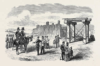 Siege Operations At Chatham Stockade Prepared For Blowing Art Print