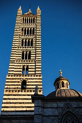Siena Cathedral Bell Tower Tuscany Art Print by Mathew Lodge