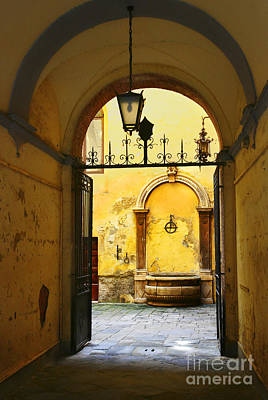 Photograph - Siena Doorway by Brian Jannsen