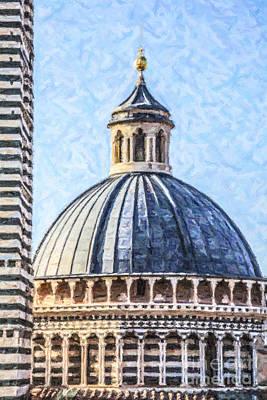 Tuscany Digital Art - Siena Duomo Tuscany Italy by Liz Leyden