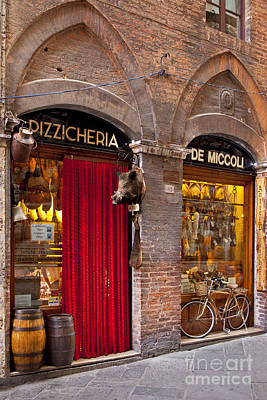 Stone Buildings Photograph - Siena Meat And Cheese Shop by Brian Jannsen