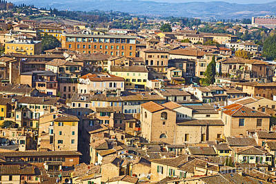 Cityscape Photograph - Siena Rooftops by Liz Leyden