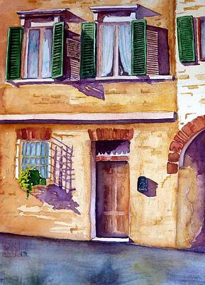 Painting - Siena Shadows by Patricia Ragone