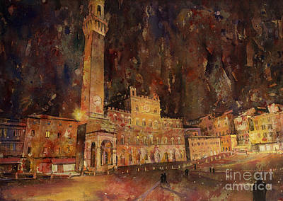 Siena Sunset Art Print by Ryan Fox
