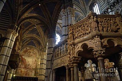 Siena's Duomo Cathedral Art Print by Sami Sarkis