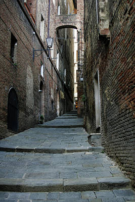 Photograph - Siena's Streets by Christopher Rees