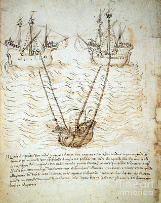 Photograph - Sienese Invention For Raising Sunken by Science Source