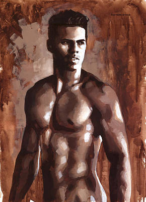 Gay Erotic Art Painting - Sienna Marcus by Douglas Simonson