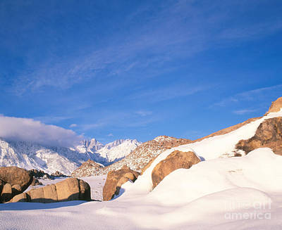 Photograph - Sierra Crest And Mt. Whitney by Dennis Flaherty