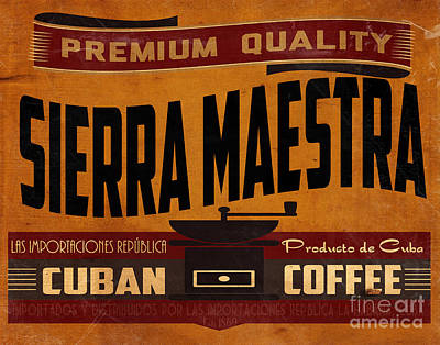 Advertising Digital Art - Sierra Maestra Crate Label by Cinema Photography