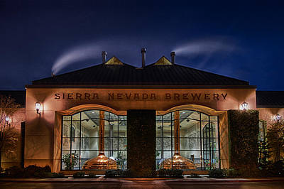 Photograph - Sierra Nevada Brewery At Night by Robert Woodward