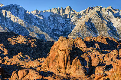 Portal Photograph - Sierra Nevada Mountains And Alabama Hills Sunrise by Gary Whitton