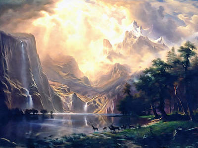 Painting - Sierra Nevada Ode To Bierstadt Dedication by Georgiana Romanovna