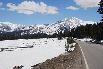 Photograph - Sierra Nevada Snowy Road by Michael Gooch