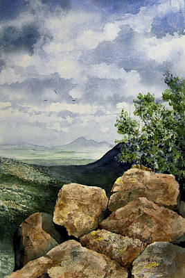 Painting - Sierra San Jose From Montezuma Pass by Sam Sidders