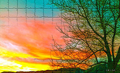 Sierra Sunset Cubed Art Print by Mayhem Mediums