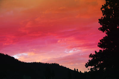 Photograph - Sierra Sunset by Melinda Fawver