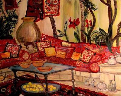 Sierra's Garden Room Art Print by Helena Bebirian