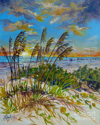 Painting - Siesta Beach Sunset Dunes by Lou Ann Bagnall