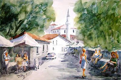 Shady Street Painting - Siesta In Bozcaada... by Faruk Koksal