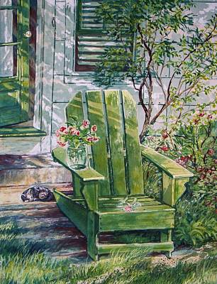Art Print featuring the painting Siesta by Joy Nichols