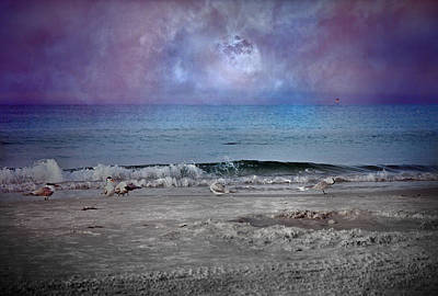 Siesta Key Moon In My Pocket Art Print by Betsy Knapp