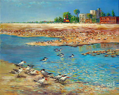 Painting - Siesta Key Sea Gulls by Lou Ann Bagnall