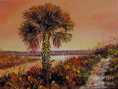 Painting - Siesta Key Sepia Tone by Lou Ann Bagnall