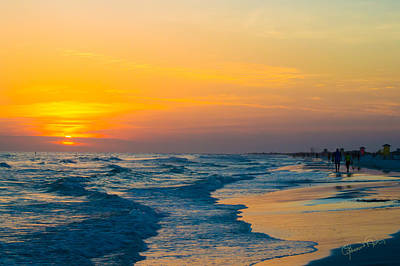 Siesta Key Sunset Walk Art Print