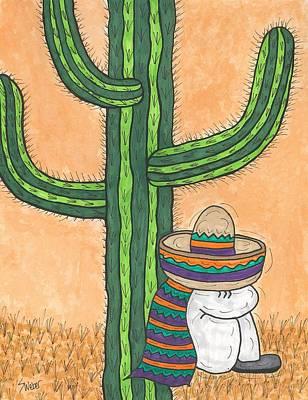 Siesta Saguaro Cactus Time Art Print