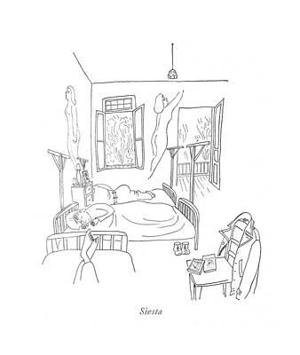 Siesta Art Print by Saul Steinberg