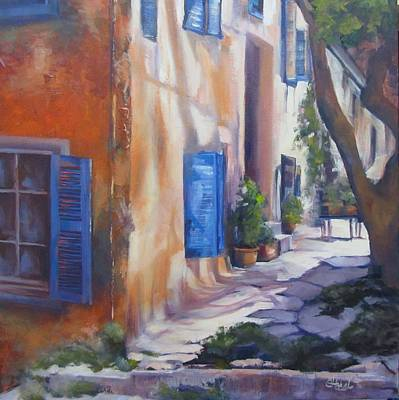 Painting - Siesta Time French Village Oil Painting by Chris Hobel