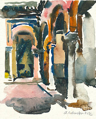 Painting - Siesta Time In Sevilla by Anna Lobovikov-Katz