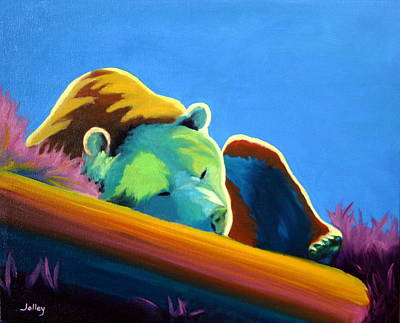 Art Print featuring the painting Siesta Time by Nancy Jolley