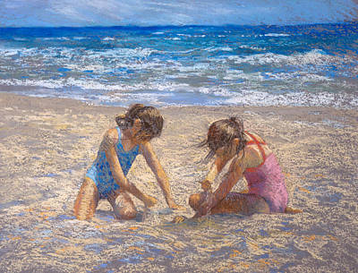 Painting - Sifting Sand by Jackie Simmonds